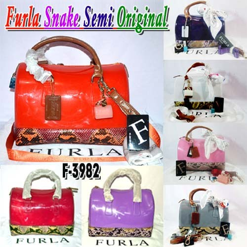 Tas Furla Snake Semi Original Made In Italy
