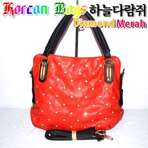 Tas Korea Bag Diamond Orange
