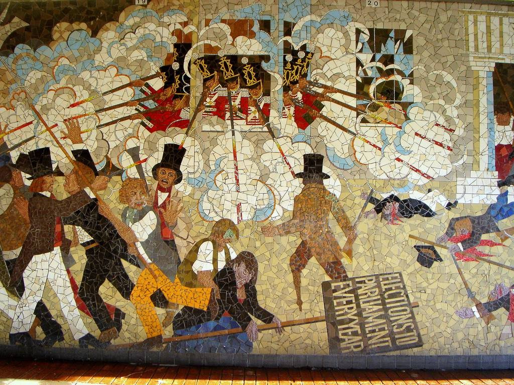 Newport chartist mural archive documenting chartism for Chartist mural newport