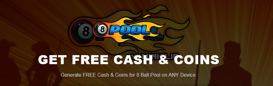 Get free cash and coins with this latest cheat 8 ball pool generator