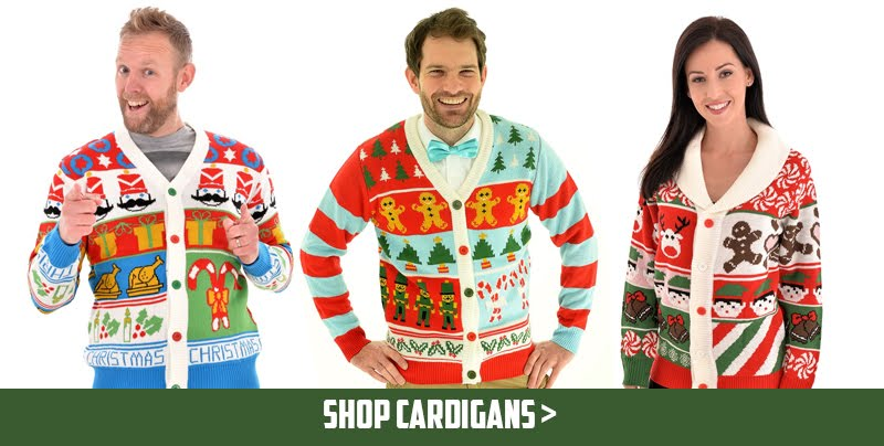 Cheesy Christmas Cardigans