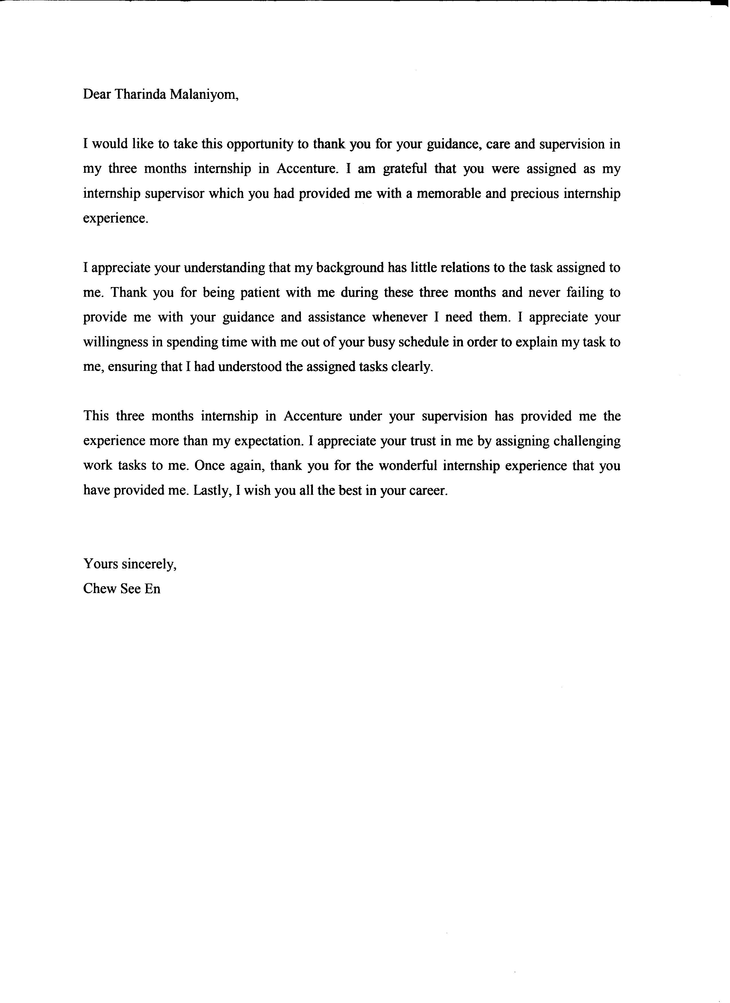 6 document of internship chew see en document 3 thank you letter to supervisor thecheapjerseys Images