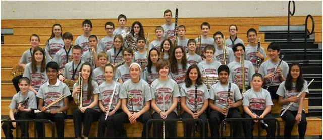 Twin Cities Honor Band Members from Unit 5 schools.