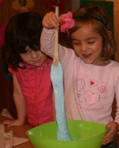 coop kids play with goo