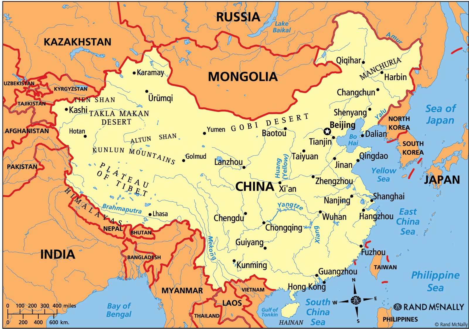 map of china with physical features 2 Geography Of China map of china with physical features