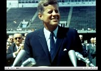 JFK during a speech on space exploration