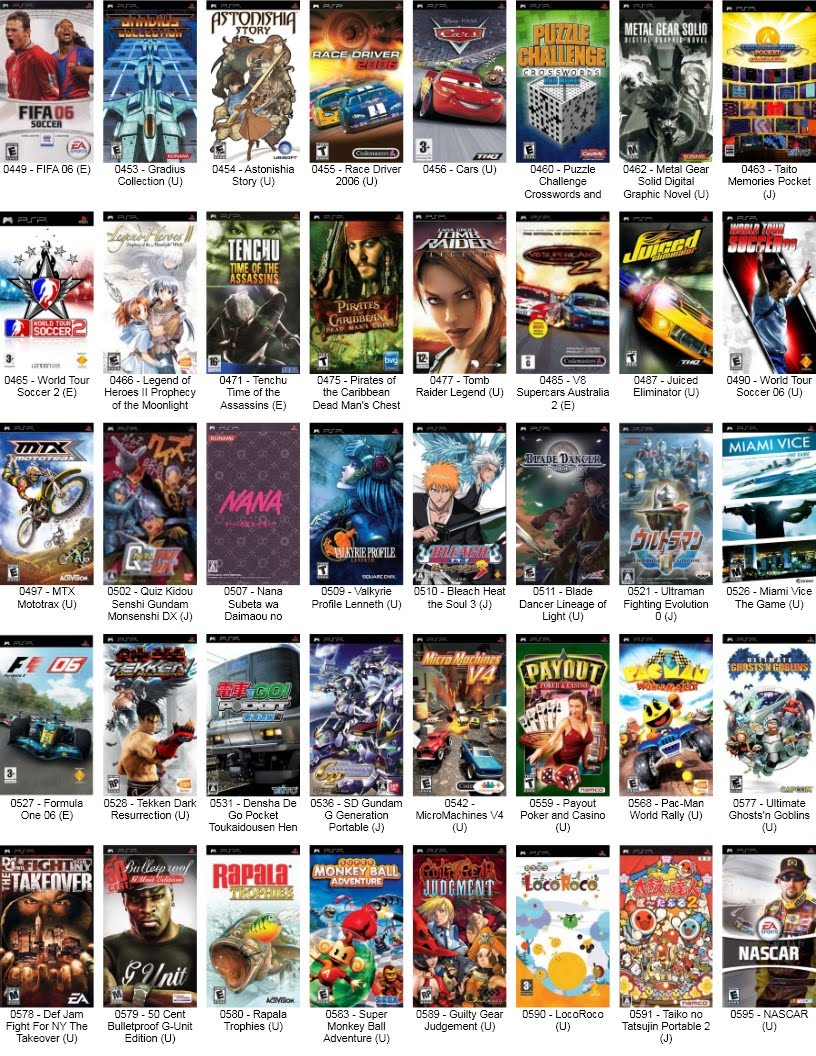 The gallery for --> New Psp Games