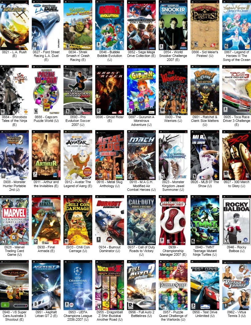 Sony Psp Games To Play : Sony play station portable psp games choose game for