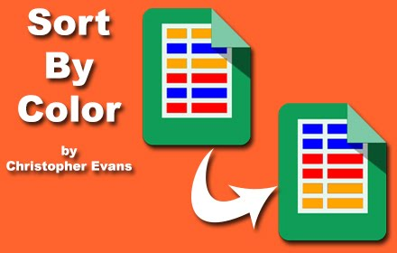 Sort By Color Add-On for Google Sheets