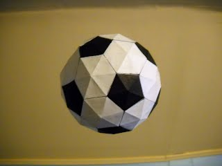 Illustration of creative abstract origami soccer ball on hi-tech ... | 240x320