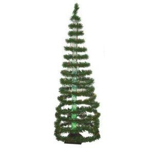 Artificial Christmas Tree. Sterling Green Spiral Bubble Slim Pre-lit Tree - 5204-60GM