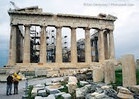 What materials were used to build the Parthenon?