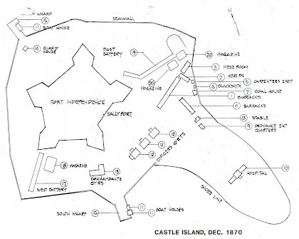 castle island layout fort independence on castle island south