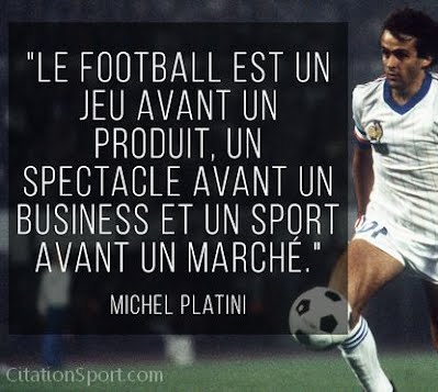 citation Michel platini