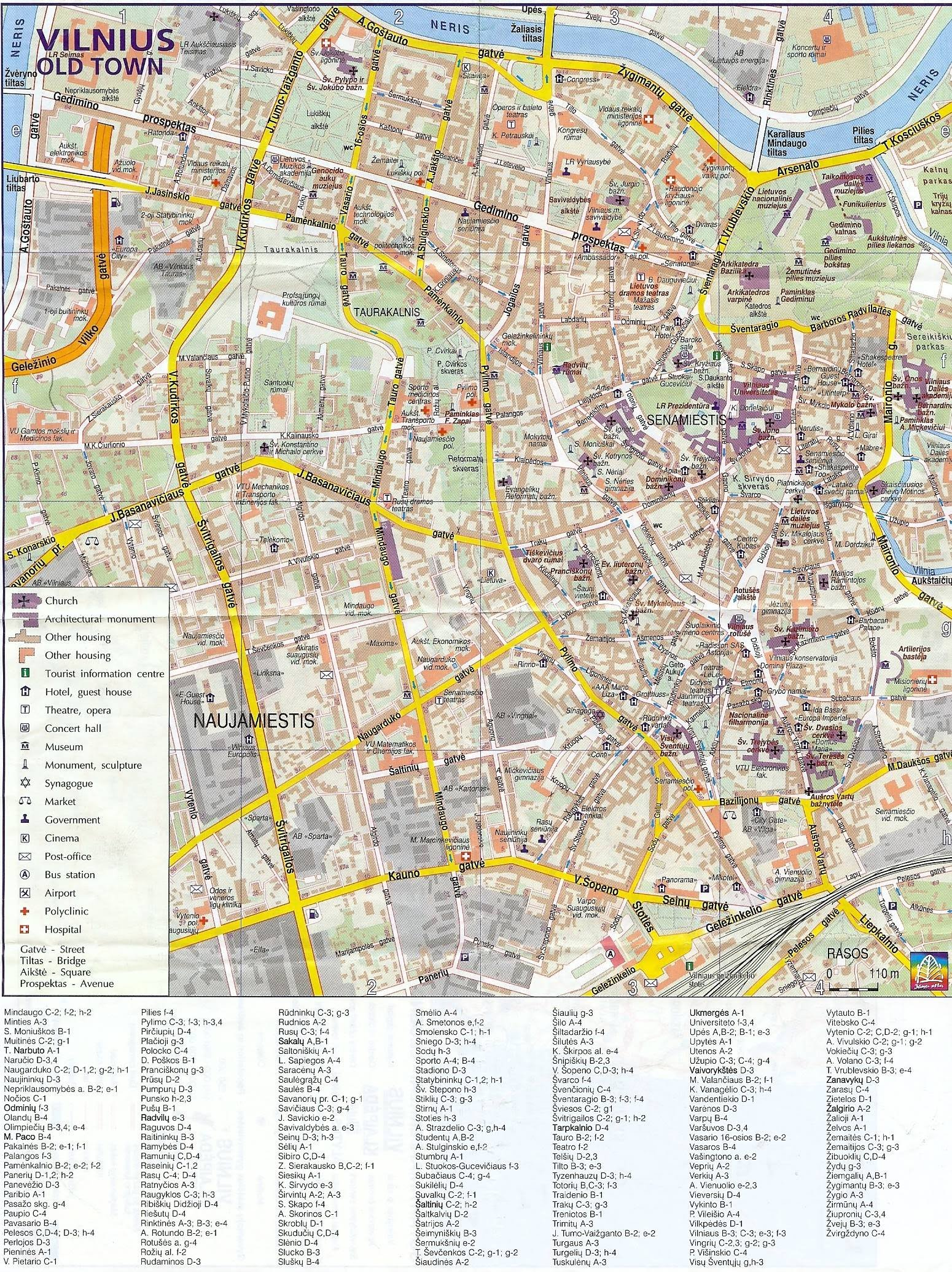 lithuania Old Town Vilnius Map on map old town copenhagen, map chicago old town, map prague old town, map bucharest old town, map salzburg old town,