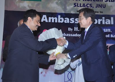 President of PKC, Dr. Ravikesh welcoming the Ambassador of ROK, Cho Hyun