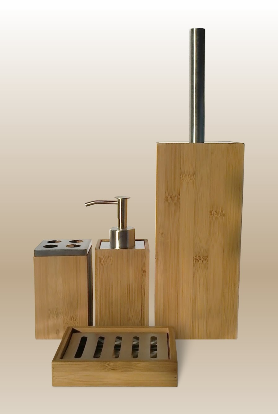 Beautiful THE CONTEMPORARY LIVING COMPANY BAMBOO BATHROOM ACCESSORIES