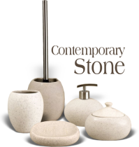 ... Bathroom Accessories With A Modern And Stone Effect Look. All Of The  Items Featured Are Available In 3 Different Shades. A Stunning 6 Piece  Range That ...
