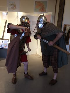 A Roman and a Novantae confront each other
