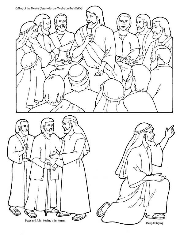 Jesus Sends Out The Disciples Coloring Page Pictures to Pin on