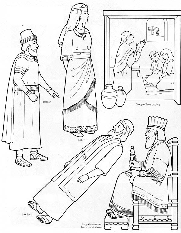 Esther bible coloring pages ~ ldsflannelboardimages - cmpbaker