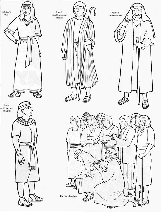 joseph and potifer coloring pages - photo#25