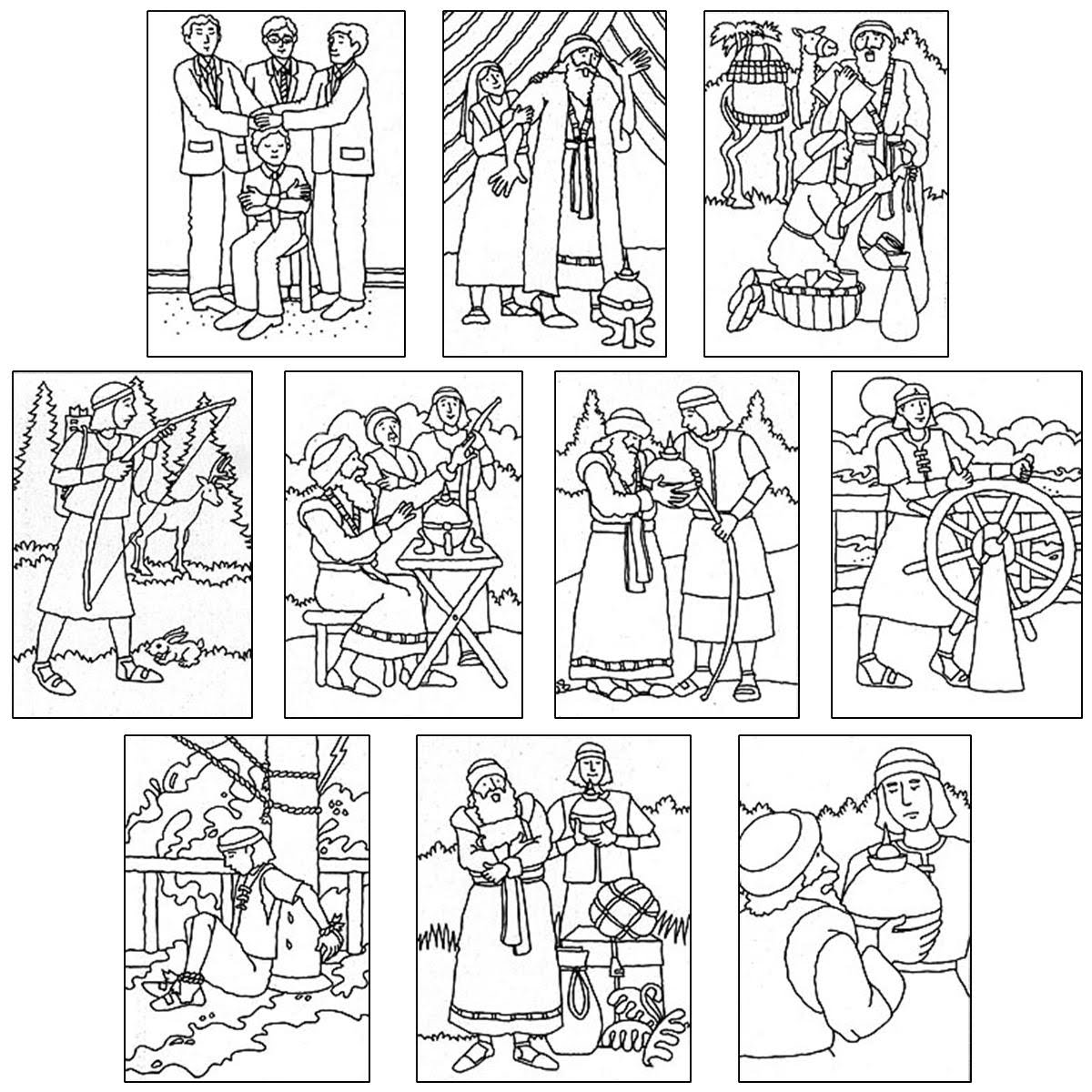coloring pages nephi liahona - photo#25