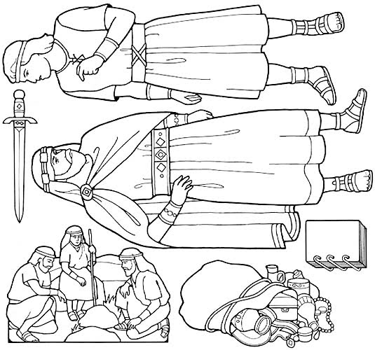 coloring pages nephi liahona - photo#16