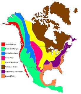 canadian shield i do not have an individual picture it is the brown area on the map below