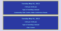 Create an Online Schedule for Meetings