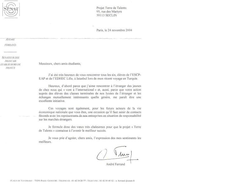 lettre de recommandation lyc u00e9e