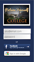 Picture Yourself in College- Login Page