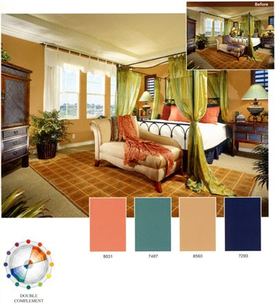 This Is A Four Hue Contrasting Color Scheme Which Uses Two Adjacent Complementary Pairs Harmony Softens And Expands The Opposing