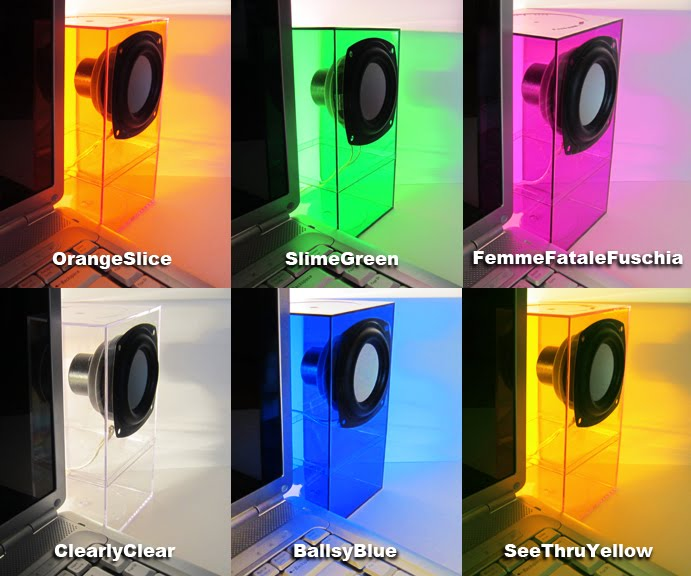 ColorSonik speakers are visually stunning and sonically smashing, desktop speakers. And yes, they have BASS!