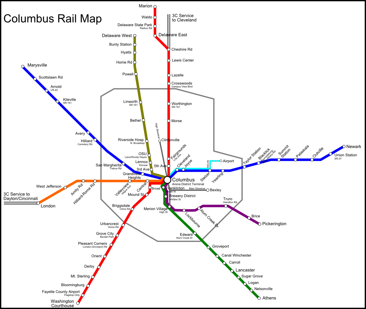 Commuter Rail Map - John Wirtz