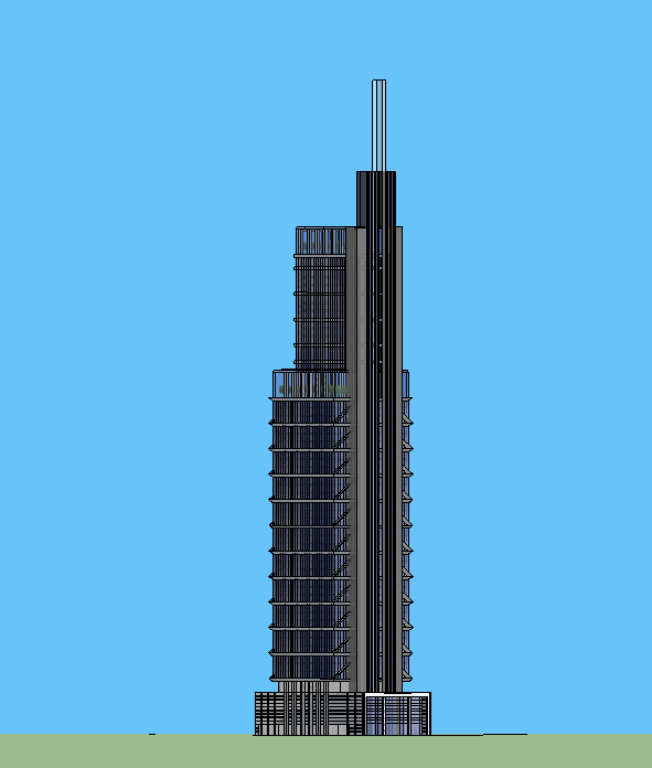 SketchUp Model - Comcast Center