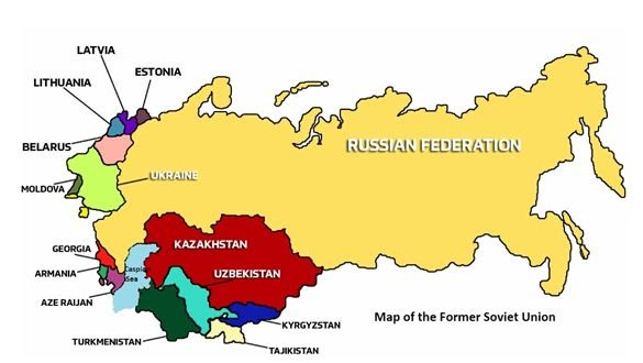 Map Soviet Union Countries Countries under the USSR   Communist views