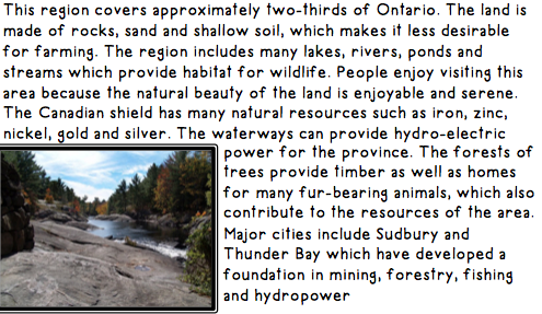 Landforms of Ontario - Communities in Ontario