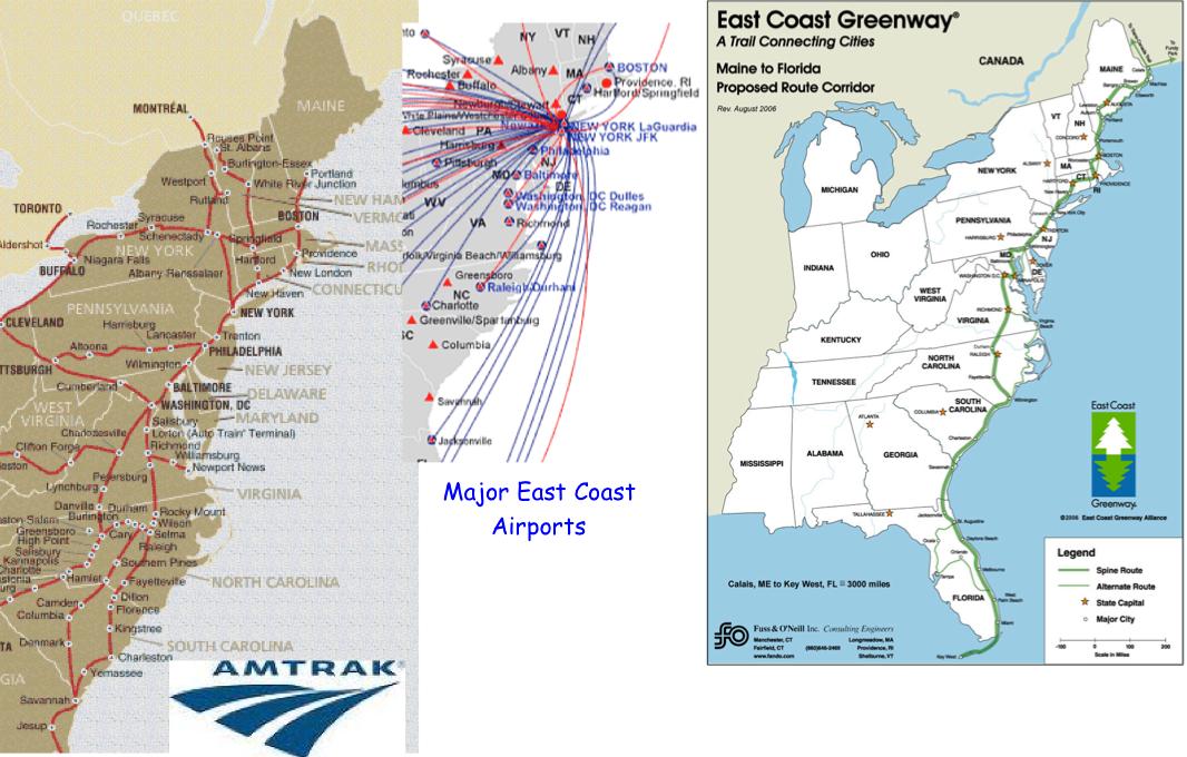 East Coast Maps Computer Class Links - East coast us rt 95 map