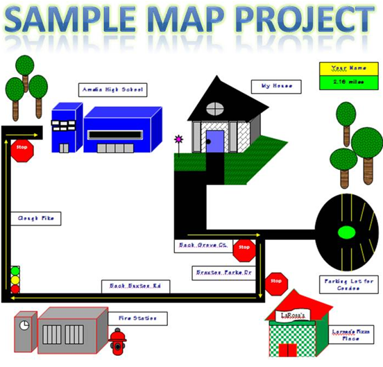 Site Map Example In Word: Great Oaks Technology Online