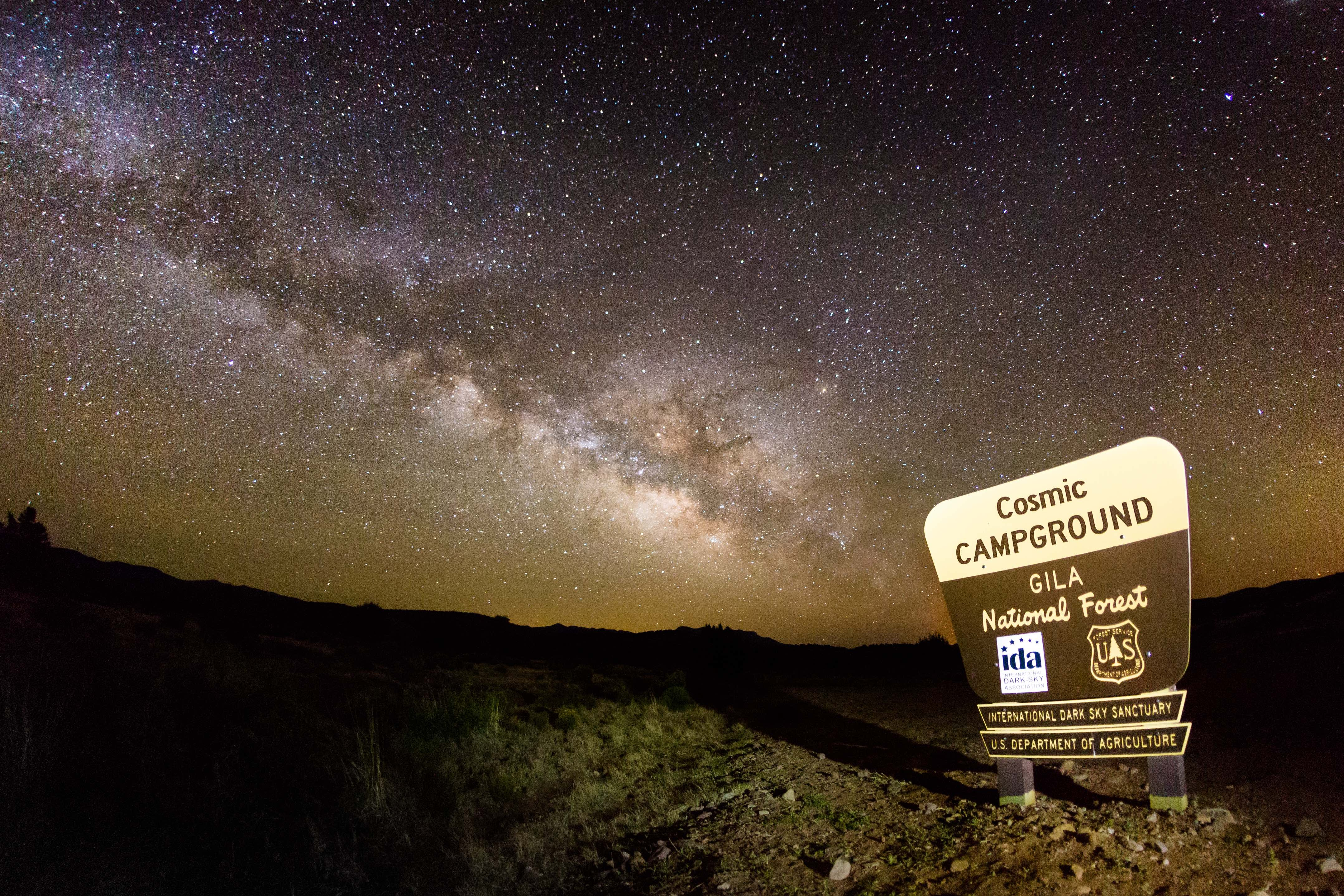 the cosmic campground international dark sky sanctuary located on the gila national forest was selected by the international dark sky ociation to be the