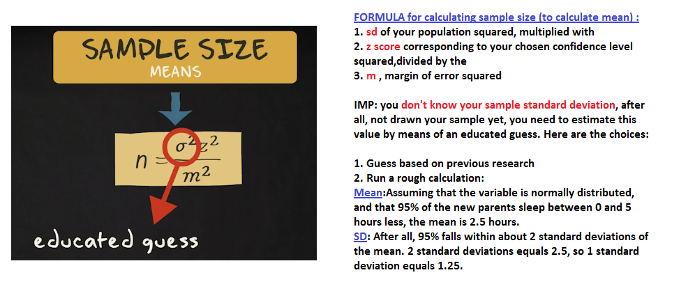 Estimating Sample Size Coursera Stats
