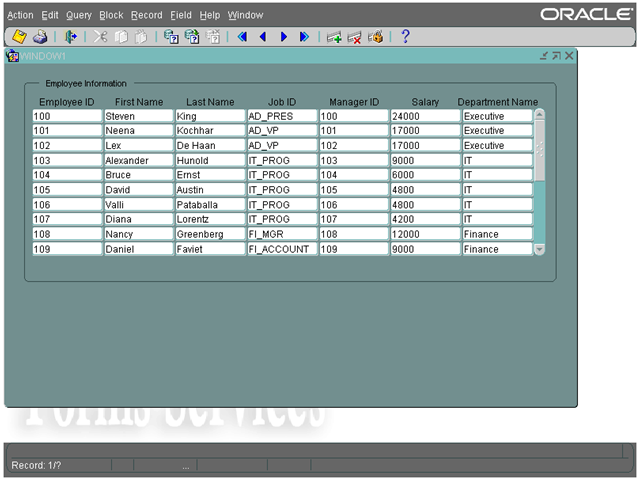 Forms How To Base A Data Block On A Table Join Craigs Oracle Stuff