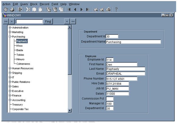 Forms: How To Create a Hierachical Tree form - Craig's Oracle Stuff