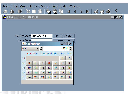 Forms: How to use a calendar in a Form - Craig's Oracle Stuff