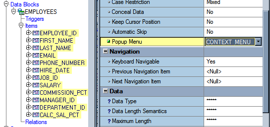 Forms: How to Create a Context (Popup) Menu - Craig's Oracle Stuff