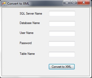 create xml from SQL Server Database