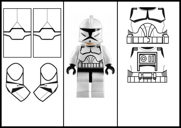 clone trooper template create your own lego custom clone