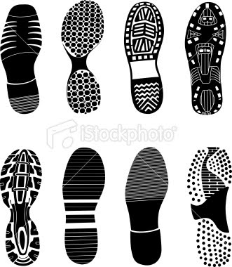 shoeprints 1 crime scene. Black Bedroom Furniture Sets. Home Design Ideas