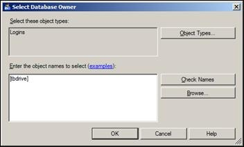 Select db owner for Database